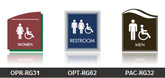 ADA Restroom Signs - Many styles and colors