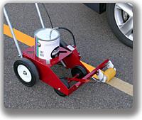parking lot line painting machine